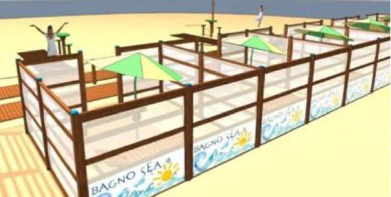 box legno spiaggia