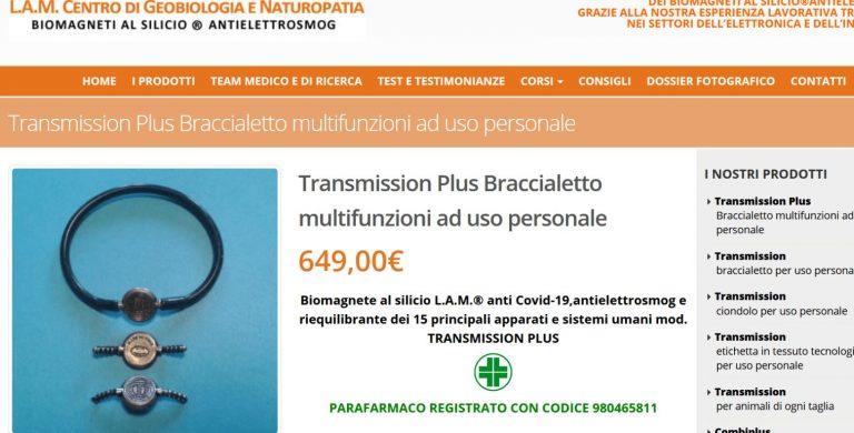 braccialetto anti coronavirus fake news