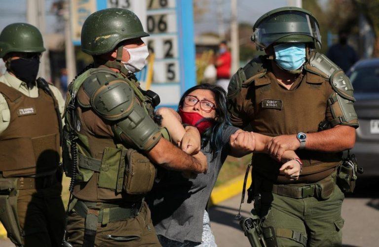 coronavirus cile lockdown manifestazioni scontri