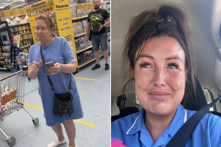 coronavirus infermiera cacciata supermercato