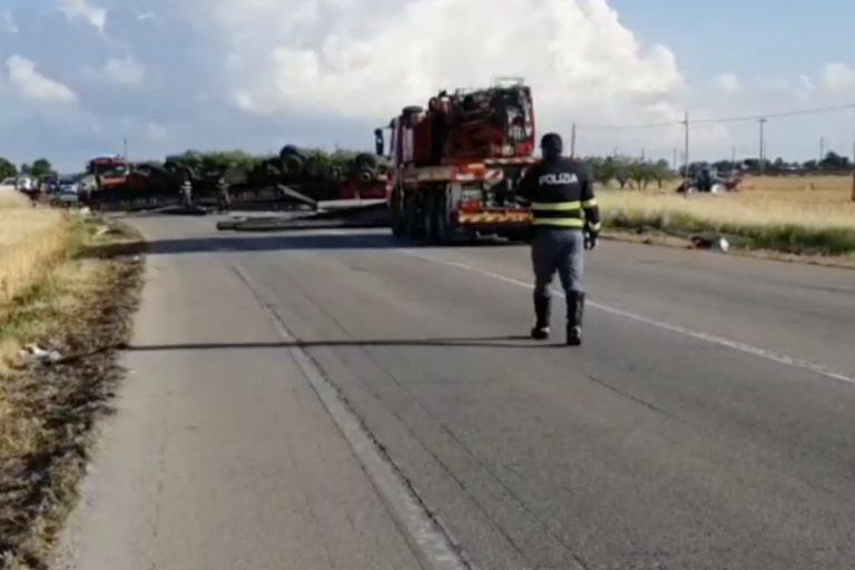 Incidente a San Severo camion