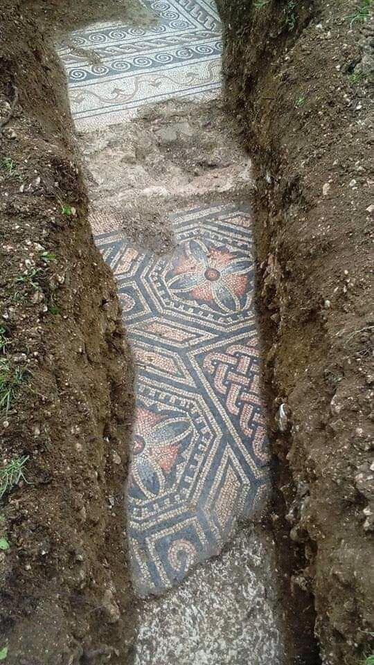 Pavimentazione di una villa romana in Valpolicella