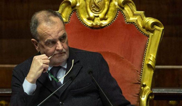 Il senatore leghista, Roberto Calderoli, contro Mediterranea