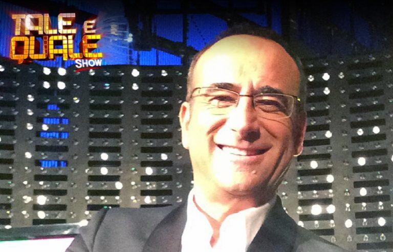 """Il conduttore Carlo Conti abbrevia """"Tale e Quale Show"""""""