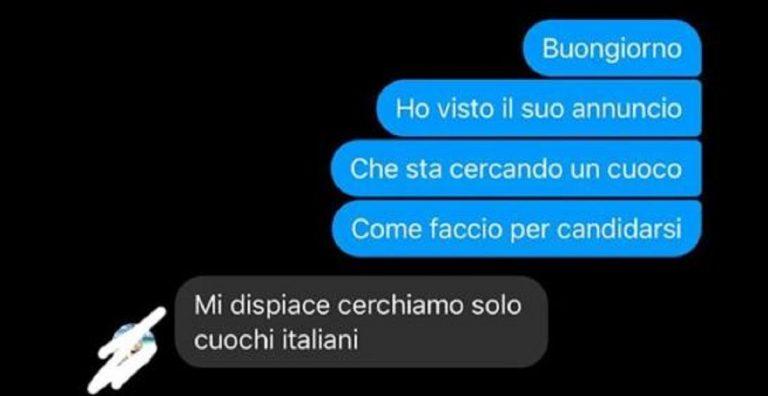 Cerca lavoro scartato non italiano