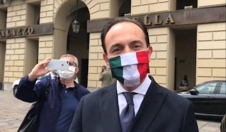 Il governatore della Regione Piemonte, Alberto Cirio