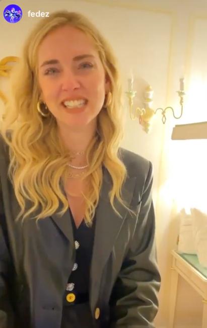 Chiara Ferragni commossa per la sorpresa di Fedez