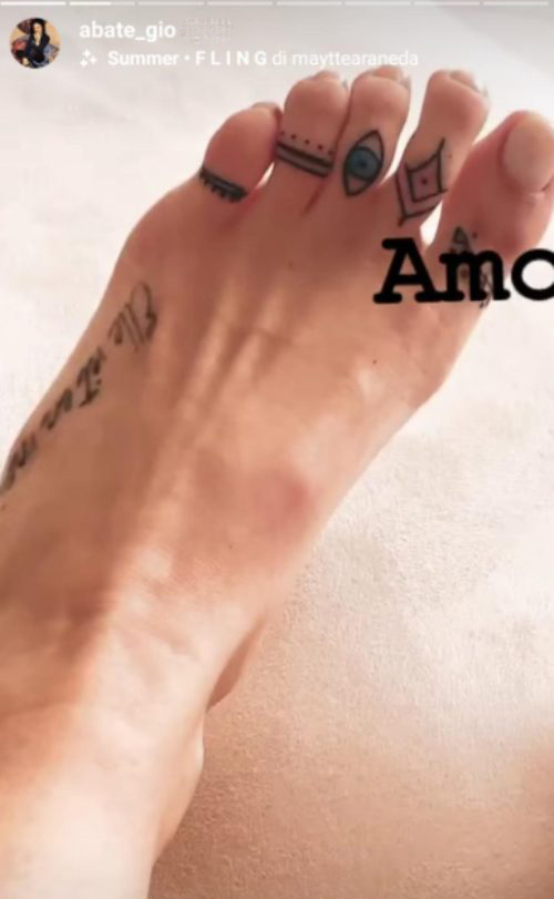giovanna abate tatuaggio