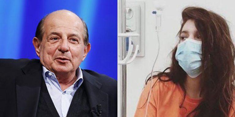 Giancarlo Magalli con la figlia Michela