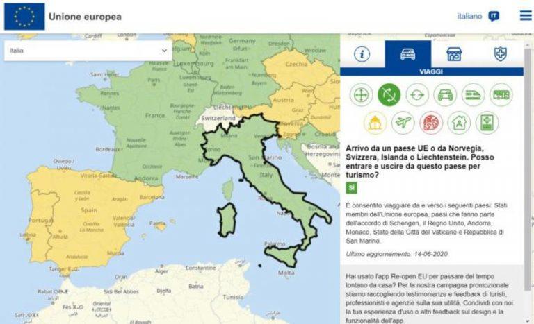 mappa interattiva vacanze europa