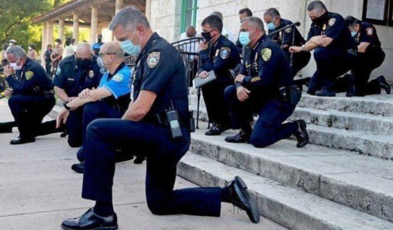 morte-floyd-solidarietà-poliziotti