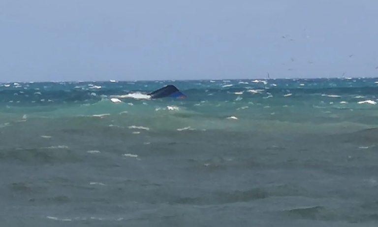 Peschereccio affondato ad Anzio