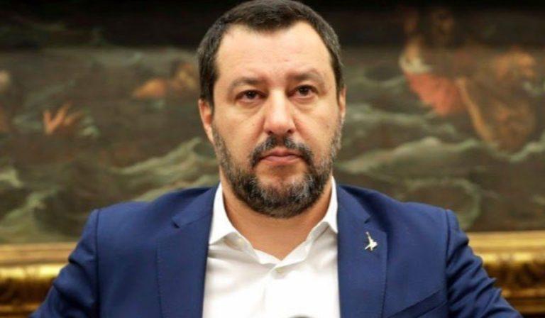 Il capo politico della Lega, Matteo Salvini