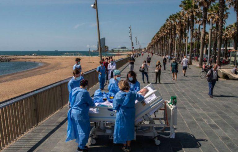 spagna paziente guarito coronavirus al mare