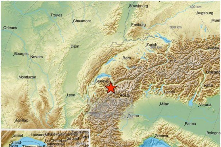 terremoto valle d'aosta