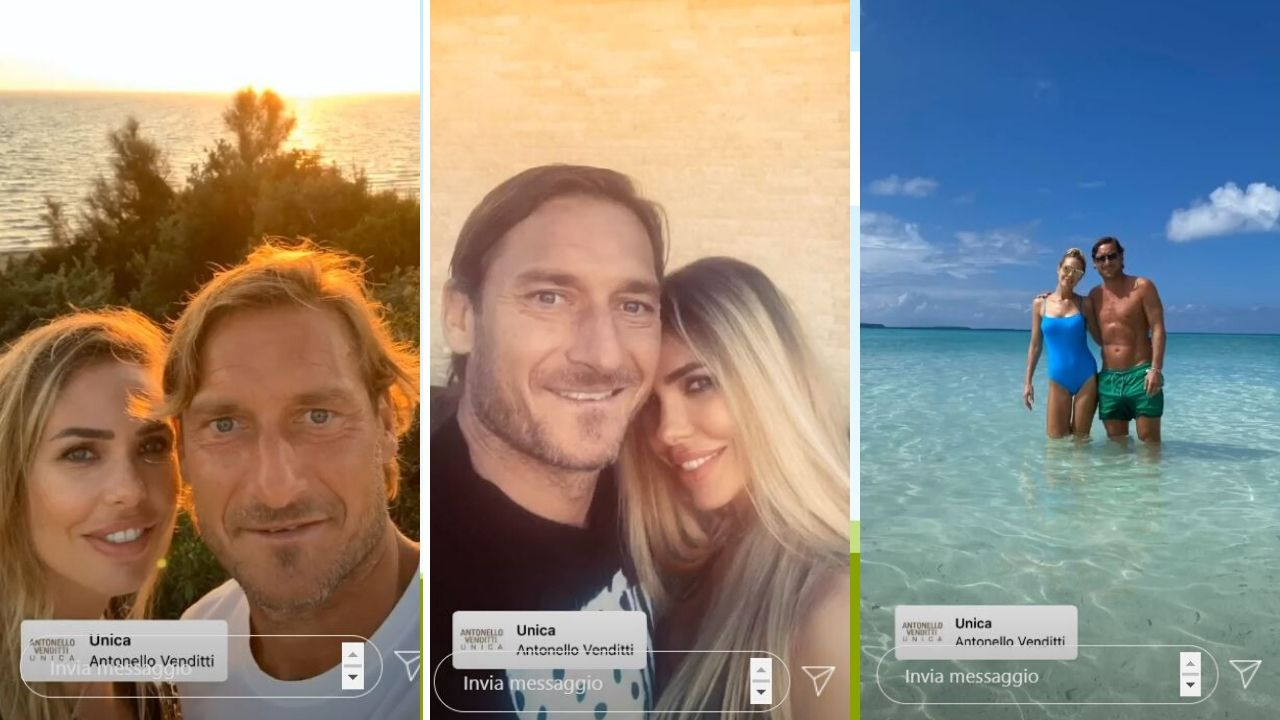 totti stories su instagram