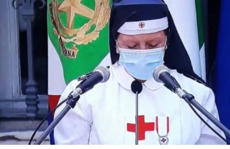 Volontaria Croce Rossa commossa Codogno