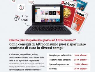 Altroconsumo Tablet: come riceverlo gratuitamente