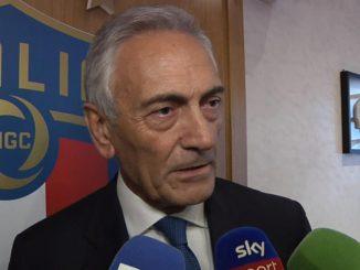 Il presidente della FiGC, Gabriele Gravina