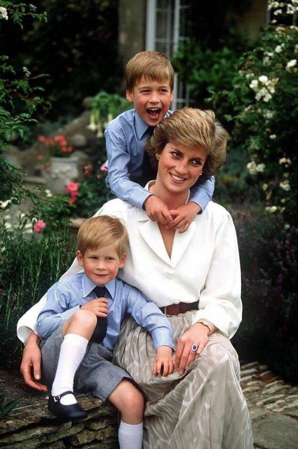 Lady Diana coi figli William e Harry