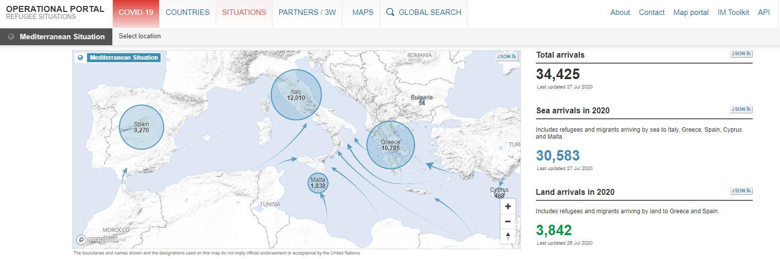 litalia supera la spagna per numero di migranti sbarcati nel 2020 tabella