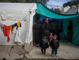 Il campo profughi di Moria, a Lesbo