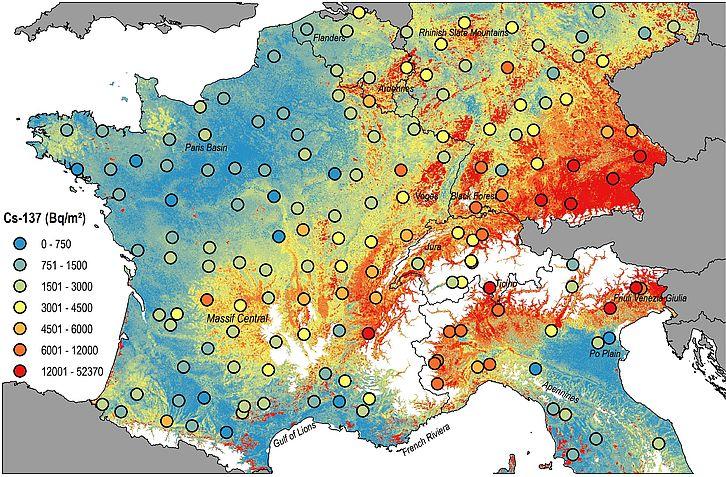 La nuova mappa della radioattività in Europa emersa dallo studio