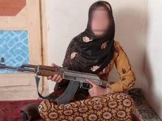 La giovane eroina afghana Qamar Gul