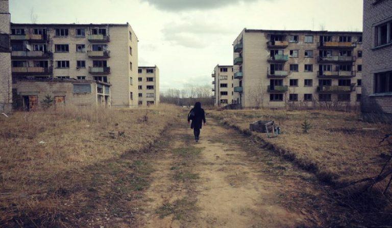 Skrunda 1, Lituania, città fantasma ex base sovietica