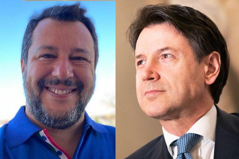 Sondaggi fiducia conte Salvini