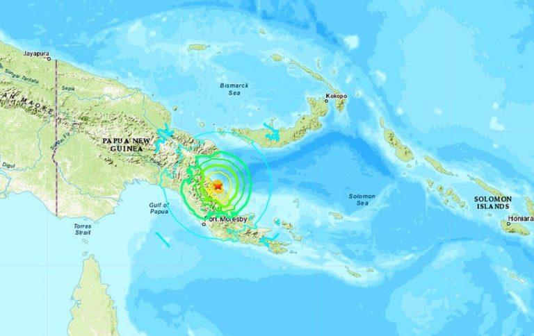 terremoto papua nuova guinea 17 luglio
