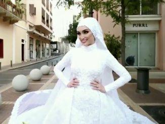 Beirut esplosione sposa