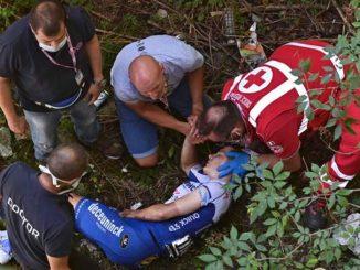 La caduta che ha interessato il giovane ciclista belga, Remco Evenepoel
