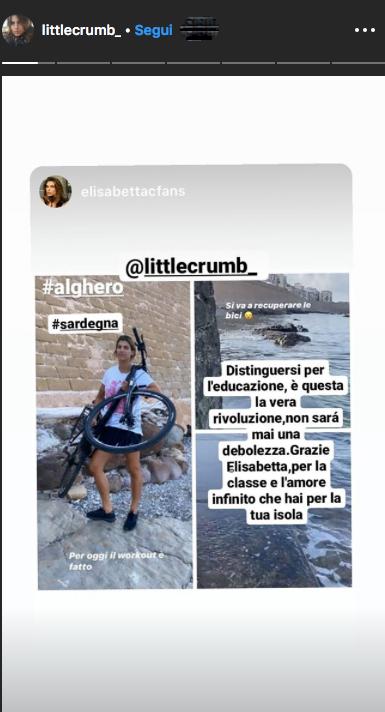 Elisabetta Canalis bici