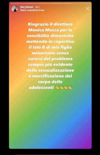 ilary blasi post instagram