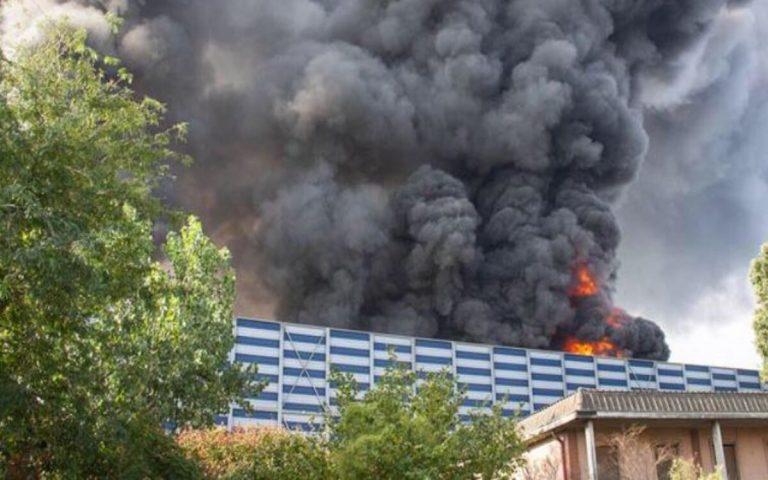 Incendio deposito acciaieria Cremona