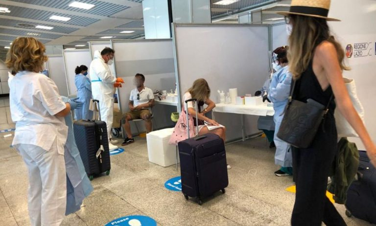 tampone positivo in aeroporto protocollo