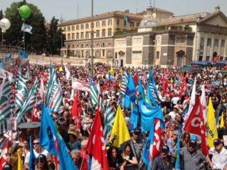 Lo sciopero convocato lo scorso 8 giugno. Foto d'archivio