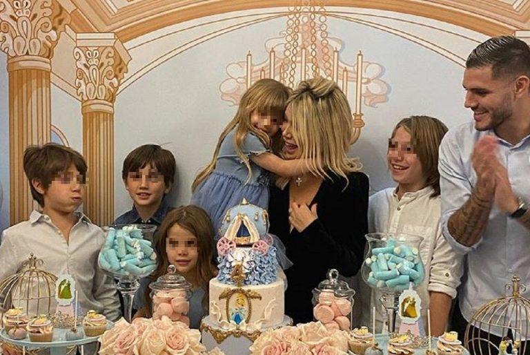 Wanda e Mauro Icardi festeggiano i 4 anni della figlia