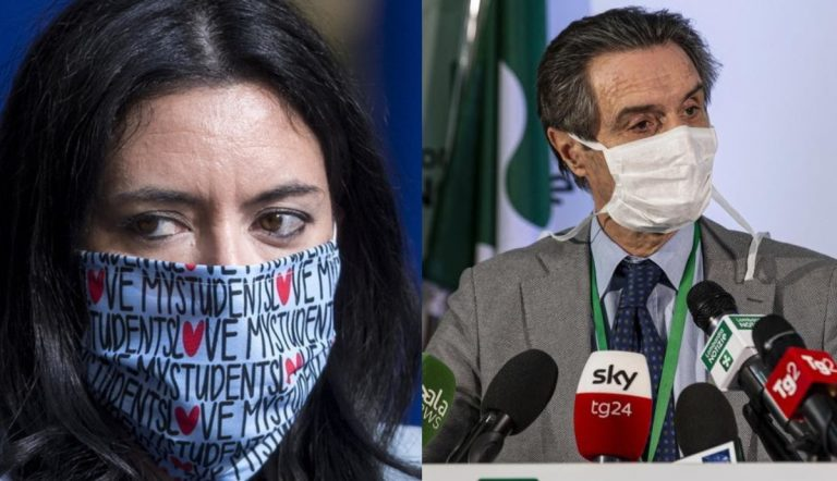 Lucia Azzolina e Attilio Fontana