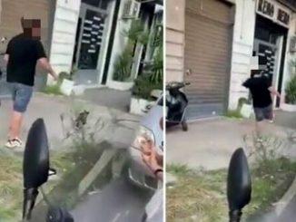 Ragazzo prende a calci gatto
