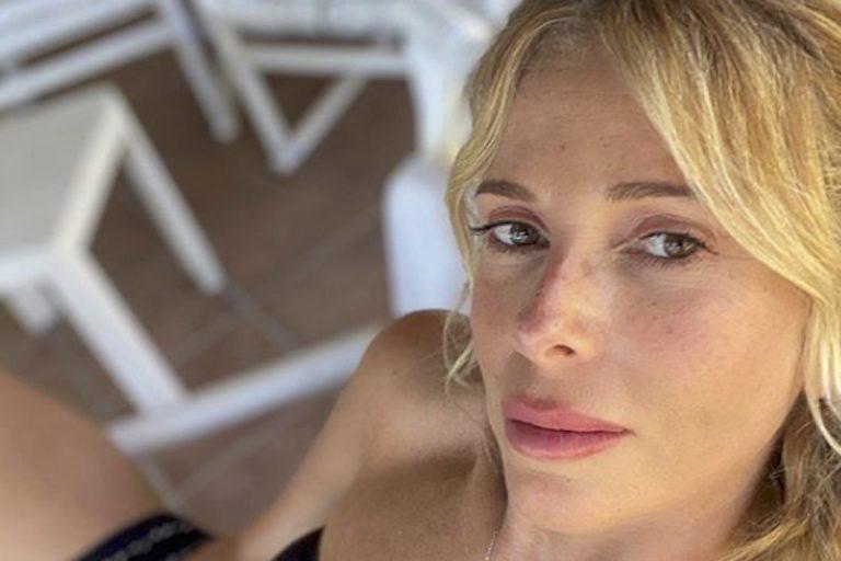 Alessia Marcuzzi senza reggiseno