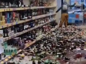 bottiglie distrutte