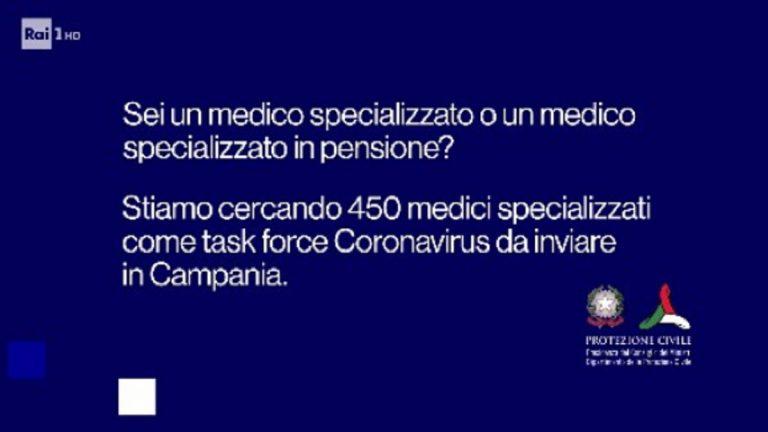 Campania cerca 450 medici