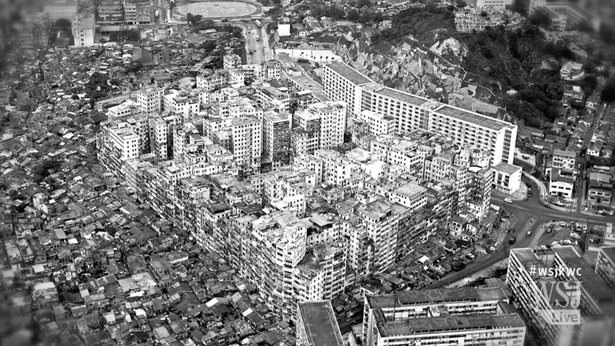 città abbandonata dall'alto