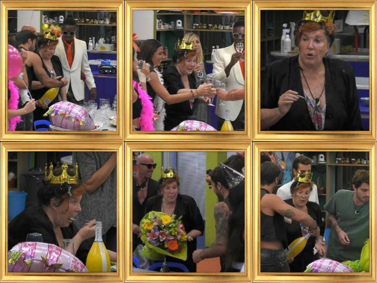 Il compleanno di Patrizia De Blanck al Gf Vip