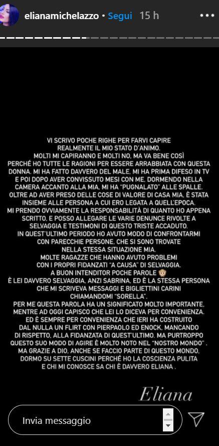 eliana michelazzo selvaggia roma instagram