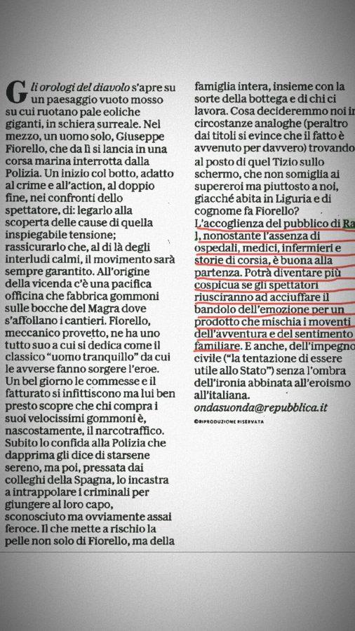 Beppe Fiorello La Repubblica