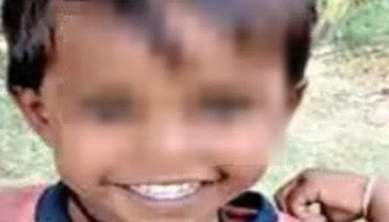 India bambino caduto pozzo