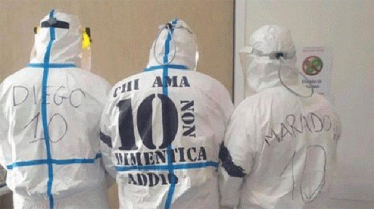 omaggio medici per maradona